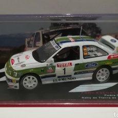 Coches a escala: FORD ESCORT COSWORTH WRC, PEDRO DIEGO, RALLY DE TIERRA DE ARTESA DE SEGRE 1999,IXO-ALTAYA. Lote 148107926