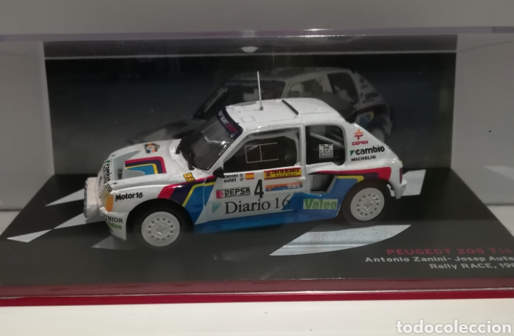 Coches a escala: Peugeot 205 turbo 16, Antonio Zanini, Rally RACE 1985,Ixo-altaya - Foto 1 - 148378173