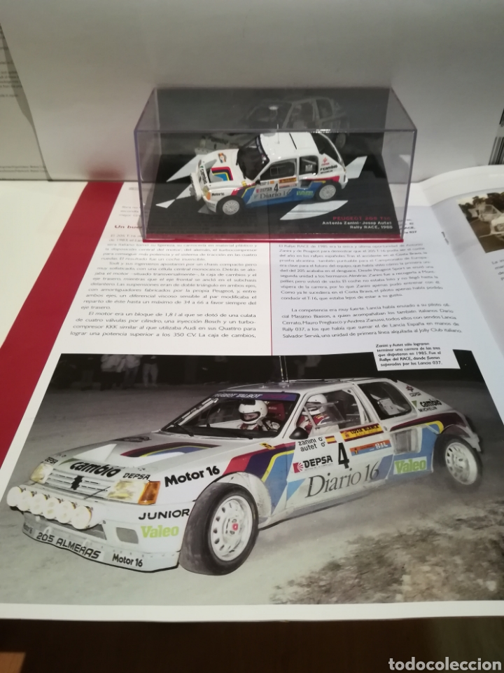 Coches a escala: Peugeot 205 turbo 16, Antonio Zanini, Rally RACE 1985,Ixo-altaya - Foto 5 - 148378173