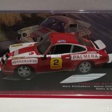 Coches a escala: PORSCHE 911 CARRERA RS, MARC ETCHEBERS, RALLY 2000 VIRATGES 1974, IXO-ALTAYA. Lote 148506425