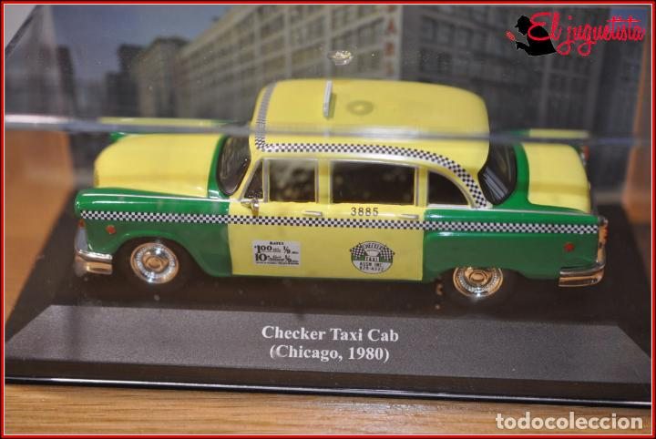 "Brekina 58922 # Checker-CabTaxi in grün-beige /"" Chicago City /"" 1:87 Drummer !!"