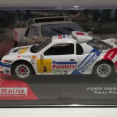 Coches a escala: FORD RS200, CARLOS SAINZ, RALLY RACE 1987, IXO-ALTAYA. Lote 149259742