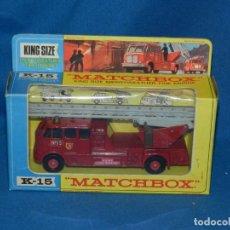 Coches a escala: (M) MATCHBOX K-15 MERRYWEATHER FIRE ENGINA ( COCHE BOMBERO ) CON CAJA, BUEN ESTADO. Lote 150268306