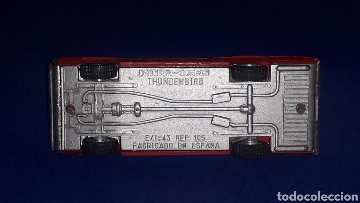 Coches a escala: Ford Thunderbird ref. 105, metal, esc. 1/43, Nacoral Inter-Cars, Zaragoza España, original año 1967. - Foto 8 - 150629946