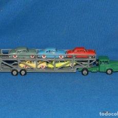 Coches a escala: (M) CAMION NOREV TRACTEUR ZU-120 UNIC TRANSPORT AUTOMOBILES , POCAS SEÑALES DE USO. Lote 150799194