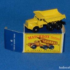 Coches a escala: (M) COCHE MATCHBOX EUCLID QUARRY TRUCK 6 CON CAJA, BUEN ESTADO. Lote 150808690