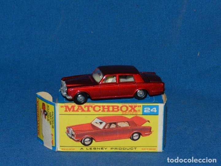 (M) COCHE MATCHBOX ROLLS ROYCE SILVER SHADOW 24 CON CAJA BUEN ESTADO ,PEQUEÑO DESGARRO EN UNA SOLAPA (Juguetes - Coches a Escala 1:43 Otras Marcas)