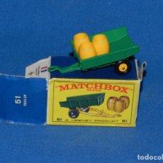 Coches a escala: (M) COCHE MATCHBOX TRAILER 51 CON CAJA , BUEN ESTADO, LA CAJA CON ALGUNA ROTURITA. Lote 150810022