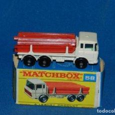 Coches a escala: (M) COCHE CAMION MATCHBOX DAF GIRDER TRUCK 58 CON CAJA, BUEN ESTADO. Lote 150810390