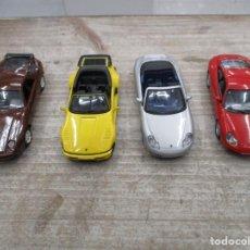 Coches a escala: LOTE 4 COCHES PORSCHE - 911 CARRERA - 911 CARRERA CABRIO - 911 CARRERA COUPE - 928GT MUY BUEN ESTADO. Lote 152007614