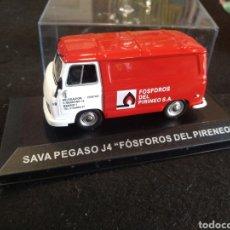 Coches a escala: FURGONETA FOSFOROS DEL PIRINEO, SAVA PEGASO J4. ESCALA 1:43. Lote 155759545
