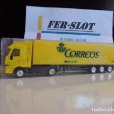 Coches a escala: CAMION TRAILER 12 RUEDAS DE CORREOS ESPAÑA. Lote 158592766