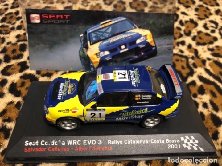 COCHE SEAT CORDOBA WRC EVO 3 1:43 IXO model car rally fiat Costa Brava 2001