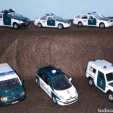 Coches a escala: 6 COCHES GUARDIA CIVIL CARARAMA. Lote 161728782