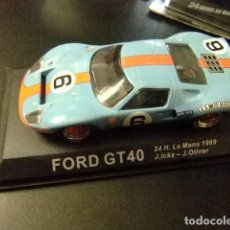 Coches a escala: FORD GT 40 24 H LE MANS 1969 J. ICKX - J. OLIVER. Lote 162551782