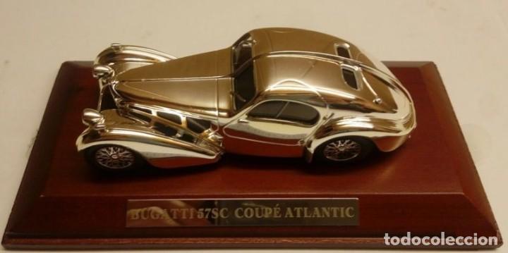 Coches a escala: BUGATTI 57SC COUPE ATLANTIC metal. Bañado en plata - 1/43 - Colección JOYAS DEL AUTOMOVIL-ALTAYA-IXO - Foto 6 - 163493358