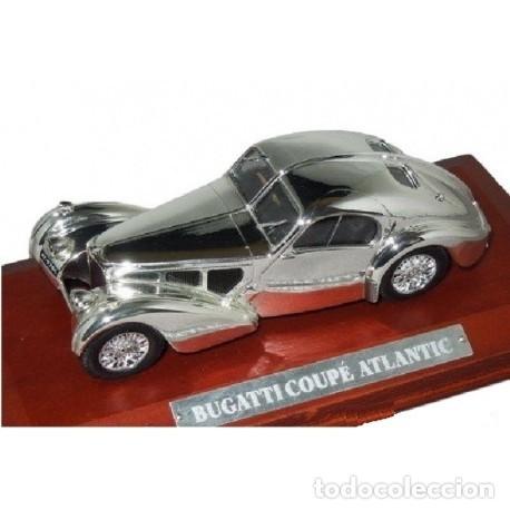 Coches a escala: BUGATTI 57SC COUPE ATLANTIC metal. Bañado en plata - 1/43 - Colección JOYAS DEL AUTOMOVIL-ALTAYA-IXO - Foto 3 - 163493358