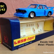 Carros em escala: LUSO TOYS FABRICADO EL 21 MAYO 1980 BMW 320 RACING + CALACAS FRUIT OF THE LOOM / HERRENWASCHE. Lote 95613855