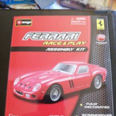 Coches a escala: COCHE FERRARI 250 GTO BURAGO METAL. Lote 166596221
