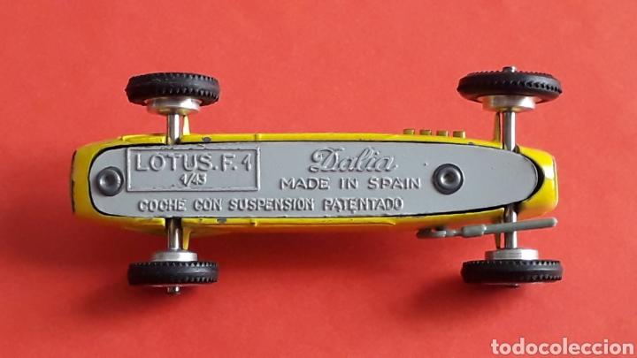 Coches a escala: Lotus F-1 ref. 11, metal, esc. 1/43, Dalia Solido made in Spain, original años 60. - Foto 8 - 167759112