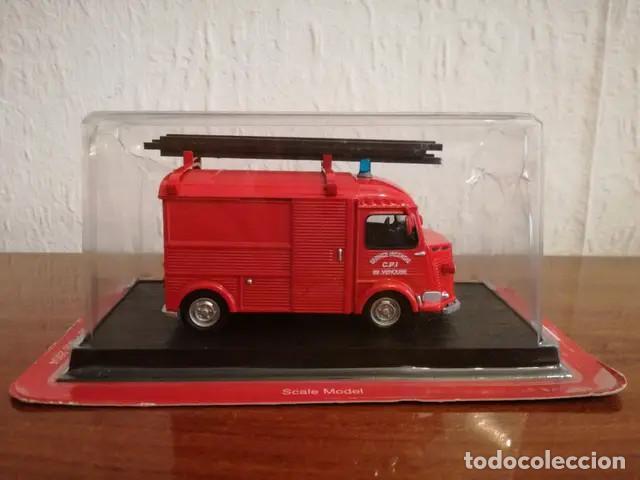 Coches a escala: Camion De Bomberos Del Prado NUEVO Camion de Bomberos. Escala 1:43. 1947- Citroen H-type integral V - Foto 2 - 167874968