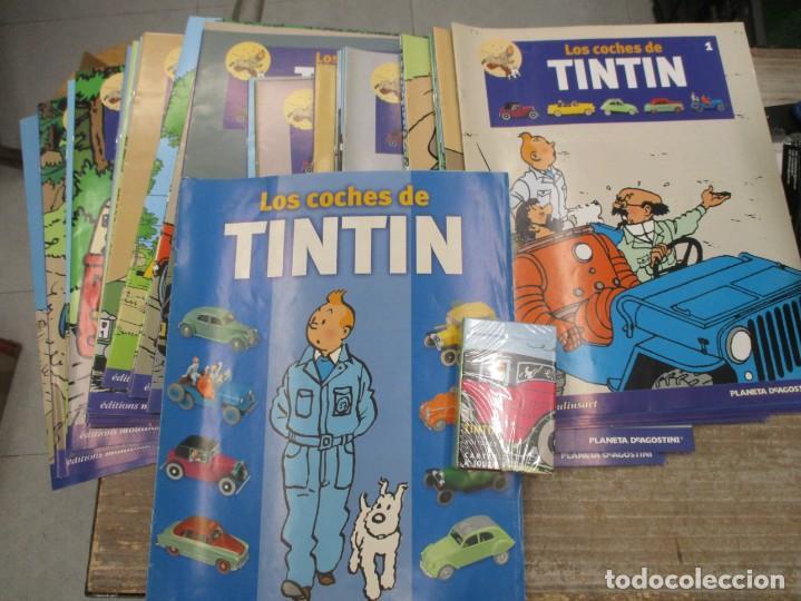 Coches a escala: COLECCION COMPLETA COCHES TINTIN 34 COCHES + 34 FASCICULOS +BARAJA COCHES - HERGE - Foto 11 - 167974180