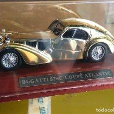 Coches a escala: BUGATTI 57SC COUPE ATLANTIC 1/43 - JOYAS DEL AUTOMÓVIL EN PLATA. ALTAYA. Lote 168084524