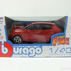 Carros em escala: SEAT IBIZA 5P 5 PUERTAS ROJO - BURAGO BBURAGO STREET FIRE ESCALA 1:43 - COCHE AUTOMÓVIL MINIATURA. Lote 182305740