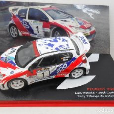 Coches a escala: 2791 COCHE PEUGEOT 206 WRC MONZON DENIZ RALLY RALLYE PRINCIPE ASTURIAS 1/43 1:43. Lote 169399116