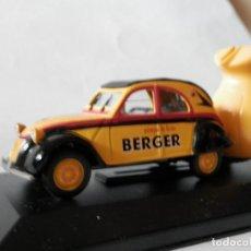 Coches a escala: CITROEN 2 CV REMOLQUE BERGER-1/43- LUGOY. Lote 171051298