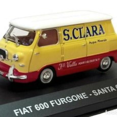 Coches a escala: FIAT 600 SANTA CLARA 1962 FURGONETA 1:43 DIECAST COCHE ATLAS. Lote 179245803