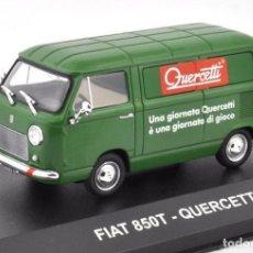 Coches a escala: FIAT 850 T QUERCETTI 1975 FURGONETA 1:43 DIECAST COCHE ATLAS. Lote 179245812