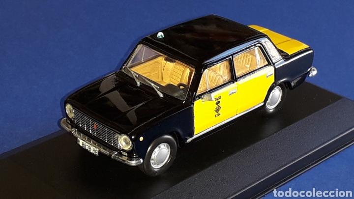 Coches a escala: Seat 124 Taxi Barcelona, metal esc. 1/43, Kit Car 43, base Fiat Ixo DeA. Impecable - Foto 2 - 175669907