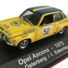 Coches a escala: OPEL ASCONA OSTERBERG 1973 RALLY MONTECARLO COCHE 1:43 ATLAS DIECAST. Lote 175932483