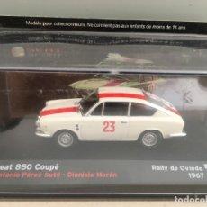 Coches a escala: COCHE SEAT 850 COUPÉ. RALLY DE OVIEDO 1967. ESCALA 1/43. Lote 176502087