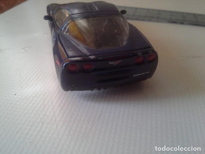 Coches a escala: coche chevrolet corvette 2004 burago azul - Foto 4 - 176609735