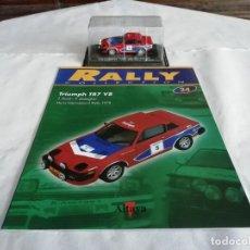 Coches a escala: ALTAYA 1/43 TRIUMPH TR7 V8 RALLY MANX 1978 POND GALLAGHER NUEVO FASCÍCULO. Lote 202524370
