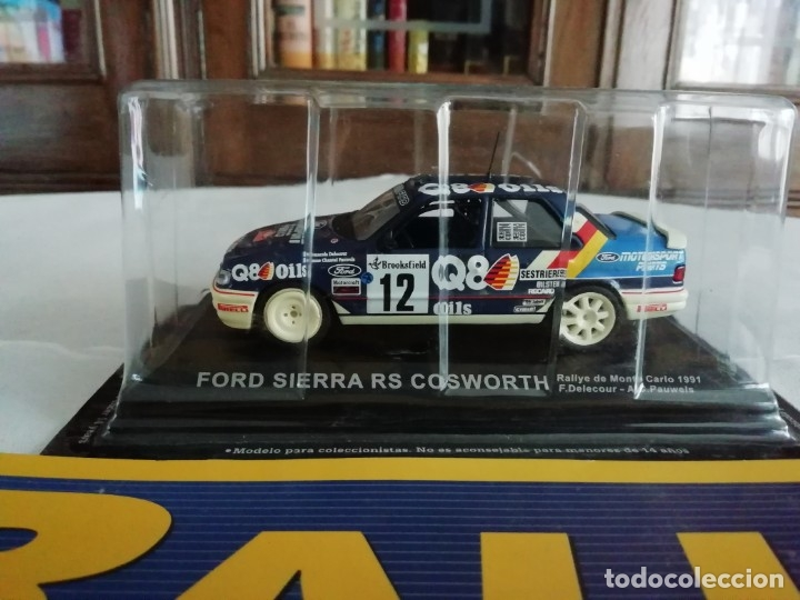 Coches a escala: Altaya 1/43 Ford Sierra RS Cosworth 4x4 Montecarlo 1991 Delecour Pauwels NUEVO Fascículo - Foto 2 - 176923769