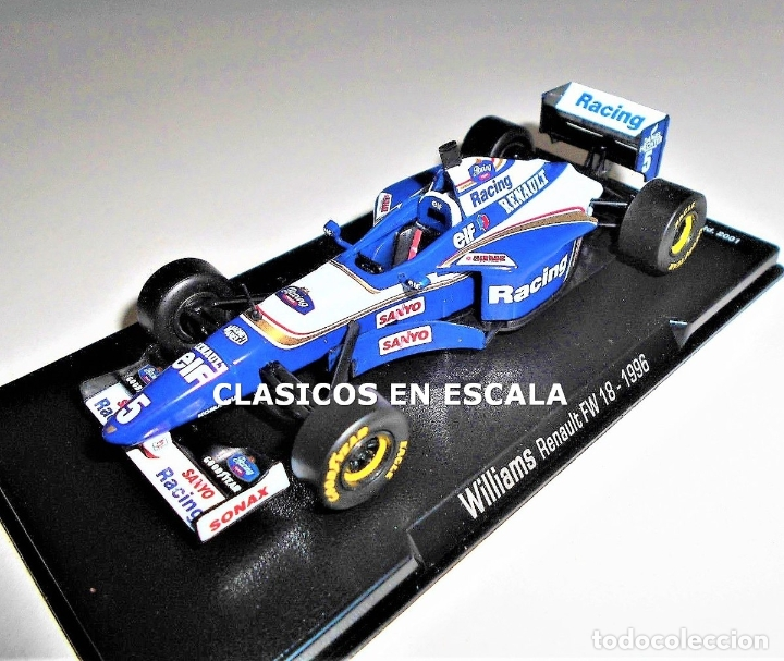 Coches a escala: WILLIAMS FW18 - DAMON HILL - 1996 - REPLICA FORMULA 1 - ESCALA 1:43 - NUEVO EN CAJA - Foto 1 - 178374511