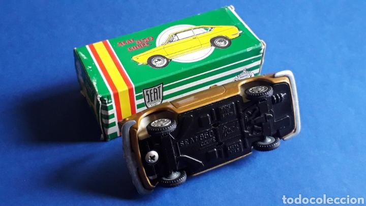 Coches a escala: Seat 850 Coupé ref. 103, metal esc. 1/43, miniaturas Joal made in Spain, original años 60. Con caja. - Foto 8 - 178828723