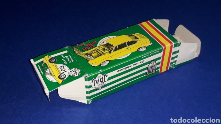 Coches a escala: Seat 850 Coupé ref. 103, metal esc. 1/43, miniaturas Joal made in Spain, original años 60. Con caja. - Foto 10 - 178828723