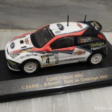 Coches a escala: FORD FOCUS WRC - RALLY DE CATALUNYA 2002 - CARLOS SAINZ - M.MARTI - 1/43 - IXO ALTAYA. Lote 179080507