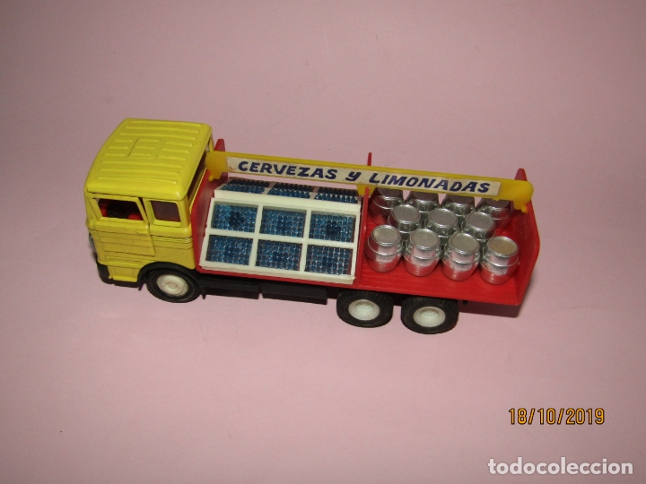 Coches a escala: Antiguo Camión Mercedes Reparto Cervezas y Limonadas Esc 1/43 de Guisval IBI Made in Spain Año 1970s - Foto 8 - 180094465