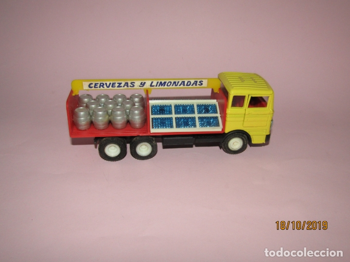 Coches a escala: Antiguo Camión Mercedes Reparto Cervezas y Limonadas Esc 1/43 de Guisval IBI Made in Spain Año 1970s - Foto 10 - 180094465