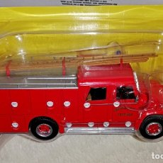 Coches a escala: CAMION AUTOBOMBA SEMIPESADA INTERNATIONAL-WASTERLAIN LOADSTAR 1627 - SALVAT 1:43 - BOMBEROS VERVIERS. Lote 180420153