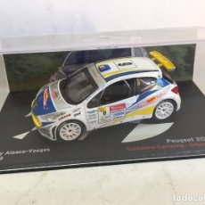 Coches a escala: PEUGEOT 207 S2000 CANIVENQ RALLY ALSACE 2009 1:43 IXO ALTAYA DIECAST. Lote 181589457