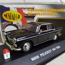 Coches a escala: PEUGEOT 404 , NEGRO , NOSTALGIE REF. N006 . Lote 183964692