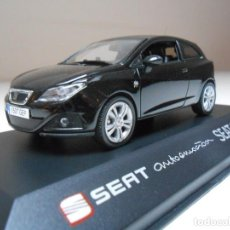 Coches a escala: COCHE SEAT IBIZA SC 3 PUERTAS NEGRO BLACK 1/43 1:43 IXO MODEL CAR MIB 3 DOORS. Lote 195152328