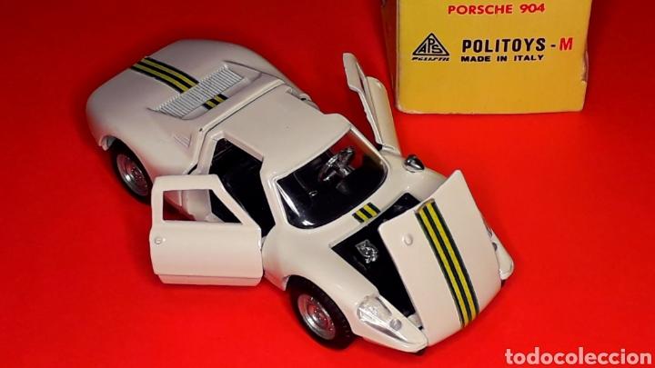 Coches a escala: Porsche 904 Carrera GTS ref 535, metal esc. 1/43, Politoys made in Italy, original años 60. Con caja - Foto 8 - 203912620