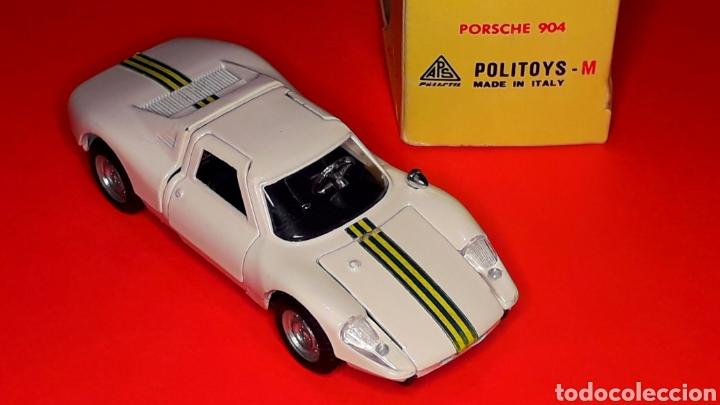 Coches a escala: Porsche 904 Carrera GTS ref 535, metal esc. 1/43, Politoys made in Italy, original años 60. Con caja - Foto 9 - 203912620